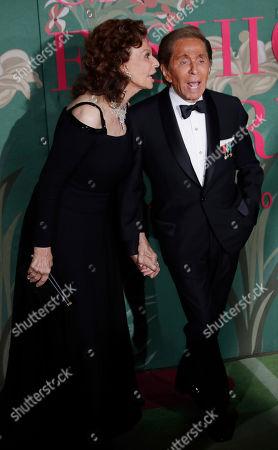 Sophia Loren and Valentino Garavani upon their arrival at the Green Carpet Fashion Awards in Milan, Italy