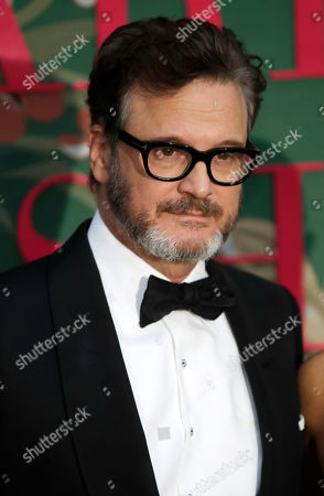 Stock Photo of Colin Firth upon his arrival at the Green Carpet Fashion Awards in Milan, Italy