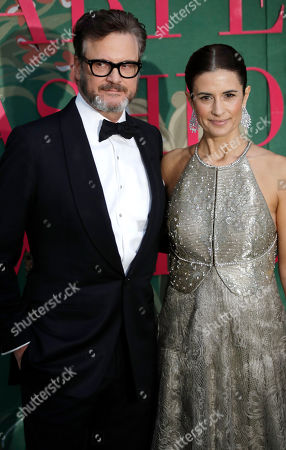 Stock Image of Colin Firth and Livia Firth upon their arrival at the Green Carpet Fashion Awards in Milan, Italy
