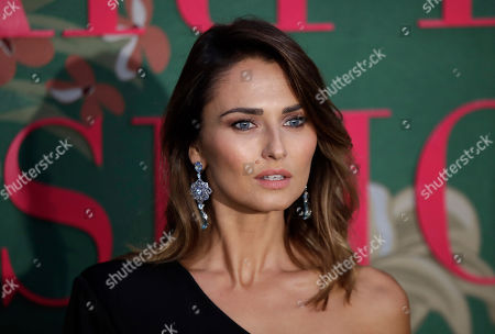 Stock Photo of Anna Safroncik upon her arrival at the Green Carpet Fashion Awards in Milan, Italy
