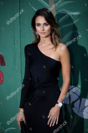 Anna Safroncik upon her arrival at the Green Carpet Fashion Awards in Milan, Italy