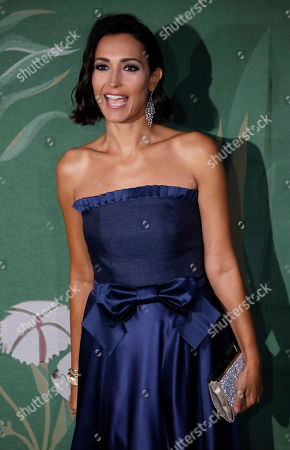 Caterina Balivo upon her arrival at the Green Carpet Fashion Awards in Milan, Italy