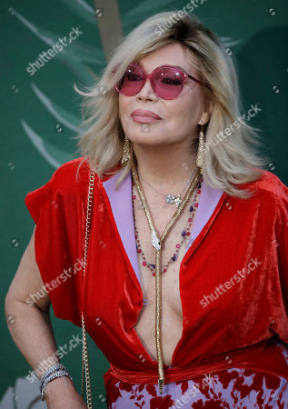 Amanda Lear upon her arrival at the Green Carpet Fashion Awards in Milan, Italy