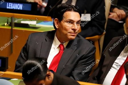 Israeli Ambassador to the United Nations Danny Danon listens to speakers at the 74th session of the United Nations General Assembly at U.N. headquarters