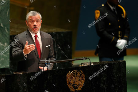 Abdullah II ibn Al Hussein. King Abdullah II of Jordan addresses the 74th session of the United Nations General Assembly at U.N. headquarters