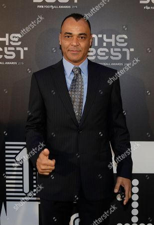 Stock Photo of Former soccer player Cafu arrives to attend the Best FIFA soccer awards, in Milan's La Scala theater, northern Italy, . Netherlands defender Virgil van Dijk is up against five-time winners Cristiano Ronaldo and Lionel Messi for the FIFA best player award and United States forward Megan Rapinoe is the favorite for the women's award