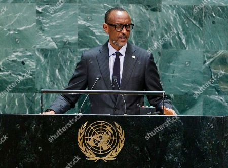 Rwanda?s President Paul Kagame addresses the General Debate of the 74th session of the General Assembly of the United Nations at United Nations Headquarters in New York, New York, USA, 24 September 2019. The annual meeting of world leaders at the United Nations runs until 30 September 2019.