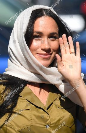 Megan Meghan Duchess of Sussex arrives at Auwal Mosque, the first and oldest mosque in South Africa, in the Bo Kaap district of Cape Town, South Africa, 24 September 2019. The Duke and Duchess of Sussex are on an official visit to South Africa.