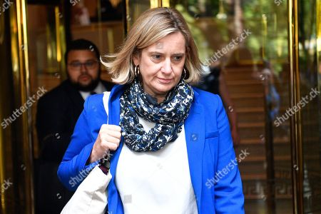 Former Home Secretary Amber Rudd leaves a television studio in London, Britain, 24 September 2019. The Supreme Court ruled that the suspension of parliament by British Prime Minister Boris Johnson was not lawful.