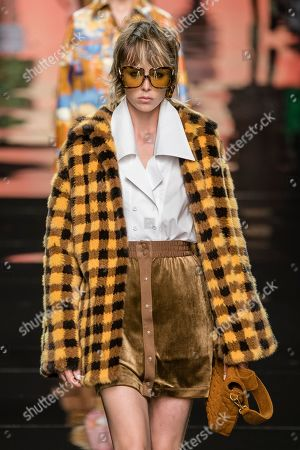 Stock Image of Edie Campbell on the catwalk