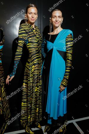 Editorial photo of Marine Serre show, Backstage, Spring Summer 2020, Paris Fashion Week, France - 24 Sep 2019