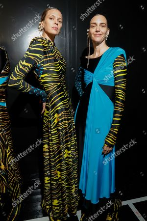 Hannelore Knuts, right, backstage