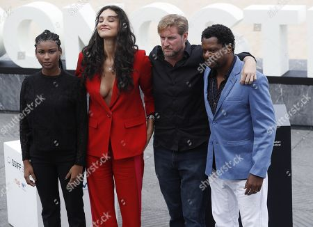 Film director Paxton Winters (2-R) and actors Bukassa Kabengele (R), Debora Nascimento (2-L), and Cassia Nascimento (L) pose during the presentation of 'Pacified' at the 67th San Sebastian International Film Festival (SSIFF), in San Sebastian, Spain, 24 September 2019. The festival runs from 20 to 28 September.