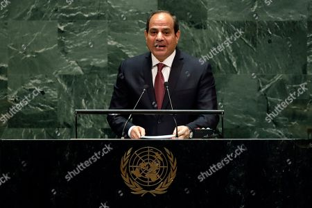 Abdel Fattah Al Sisi. Egypt's President Abdel Fattah el-Sisi addresses the 74th session of the United Nations General Assembly