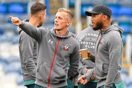Stock Picture of James Ward-Prowse of Southampton points out something to Ryan Bertrand of Southampton   during Portsmouth vs Southampton, Caraboa Cup Football at Fratton Park on 24th September 2019