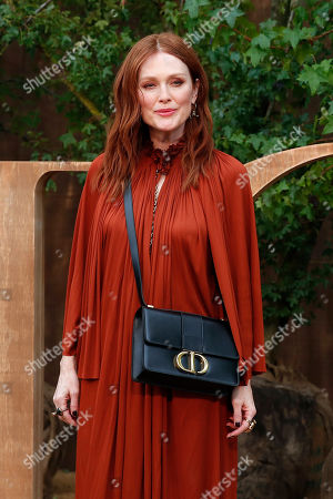 American actress Julianne Moore poses during a photocall before Dior's Ready To Wear Spring-Summer 2020 collection, unveiled during the fashion week, in Paris