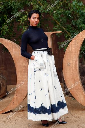 Zita Hanrot poses during a photocall before Dior's Ready To Wear Spring-Summer 2020 collection, unveiled during the fashion week, in Paris