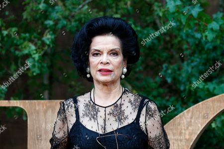 Bianca Jagger poses during a photocall before Dior's Ready To Wear Spring-Summer 2020 collection, unveiled during the fashion week, in Paris