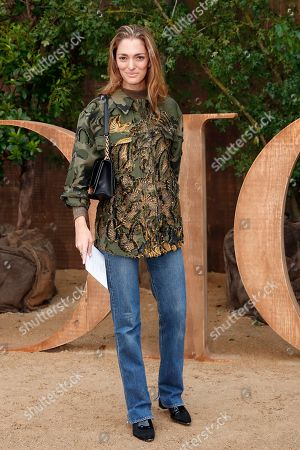 Sofia Sanchez de Betak poses during a photocall before Dior's Ready To Wear Spring-Summer 2020 collection, unveiled during the fashion week, in Paris