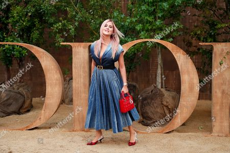 Valentina Ferragni poses during a photocall before Dior's Ready To Wear Spring-Summer 2020 collection, unveiled during the fashion week, in Paris