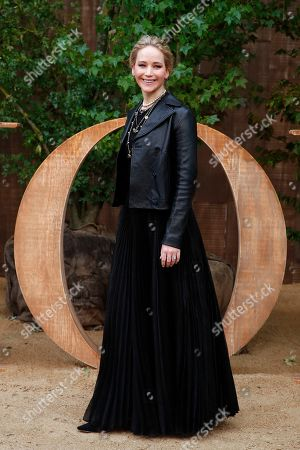American actress Jennifer Lawrence poses during a photocall before Dior's Ready To Wear Spring-Summer 2020 collection, unveiled during the fashion week, in Paris