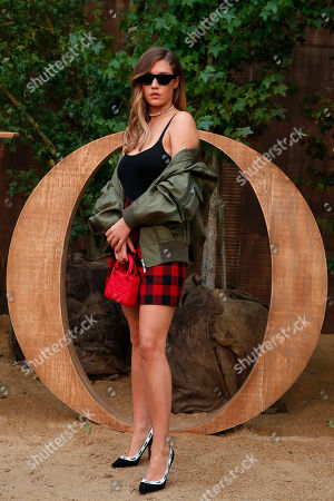 Stock Picture of French actress Adele Exarchopoulos poses during a photocall before Dior's Ready To Wear Spring-Summer 2020 collection, unveiled during the fashion week, in Paris
