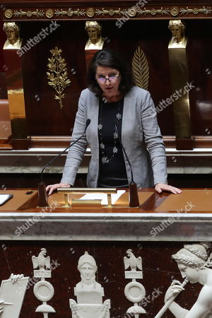 French Health Minister Agnes Buzyn delivers a speech during a debate on a bill that would give single women and lesbian couples access to in-vitro fertilization and related procedures called PMA (Procreation Medicalement Assiste or assisted reproduction) at the National Assembly, in Paris, France, 24 August 2019.