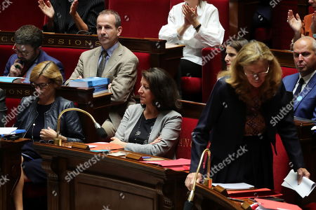 French Health Minister Agnes Buzyn (C) attends a debate on a bill that would give single women and lesbian couples access to in-vitro fertilization and related procedures called PMA (Procreation Medicalement Assiste or assisted reproduction) at the National Assembly, in Paris, France, 24 August 2019.