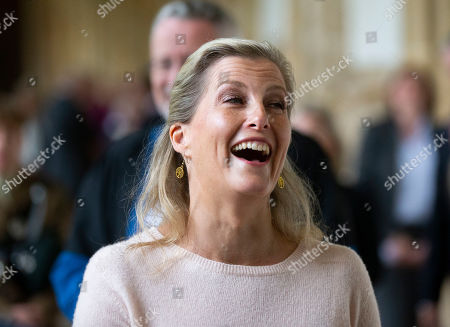 Sophie Countess of Wessex visits Wells Cathedral.