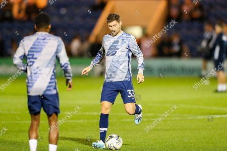 Tottenham Hotspur defender Ben Davies (33) warms up during the EFL Cup match between Colchester United and Tottenham Hotspur at the JobServe Community Stadium, Colchester
