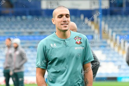 Oriol Romeu (14) of Southampton  at Fratton Park stadium ahead of the EFL Cup match between Portsmouth and Southampton at Fratton Park, Portsmouth