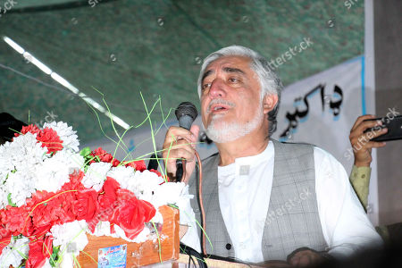 Dr. Abdullah Abdullah, Afghan Presidential candidate, attends his election campaign, in Kandahar, Afghanistan, 24 September 2019. Presidential elections in Afghanistan are scheduled for 28 September, with a total of 18 candidates, including incumbent President Mohammad Ashraf Ghani, are running for the post.