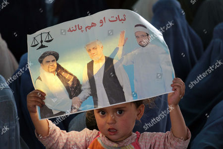 Supporters of Presidential candidate Dr. Abdullah Abdullah attend his election campaign, in Kandahar, Afghanistan, 24 September 2019. Presidential elections in Afghanistan are scheduled for 28 September, with a total of 18 candidates, including incumbent President Mohammad Ashraf Ghani, are running for the post.