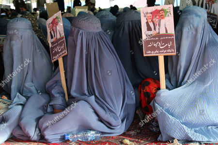 Stock Image of Supporters of Presidential candidate Dr. Abdullah Abdullah attend his election campaign, in Kandahar, Afghanistan, 24 September 2019. Presidential elections in Afghanistan are scheduled for 28 September, with a total of 18 candidates, including incumbent President Mohammad Ashraf Ghani, are running for the post.
