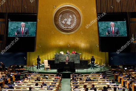 King Abdullah II ibn Al Hussein. Jordan's King Abdullah II addresses the 74th session of the United Nations General Assembly