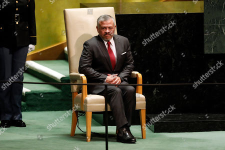 King Abdullah II ibn Al Hussein. Jordan's King Abdullah II waits to address the 74th session of the United Nations General Assembly