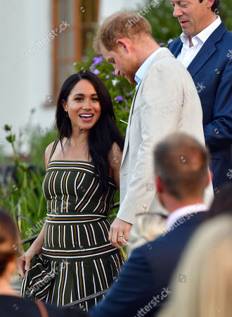 Prince Harry and Megan Meghan Duchess of Sussex attends a reception for young people, community and civil society leaders at the Residence of the British High Commissioner in Cape Town, South Africa.