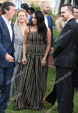 Megan Duchess of Sussex attends a reception for young people, community and civil society leaders at the Residence of the British High Commissioner in Cape Town, South Africa.