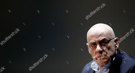 Stock Image of US writer James Ellroy attends the presentation of his latest book 'This Storm' in Bilbao, Spain, 24 September 2019.