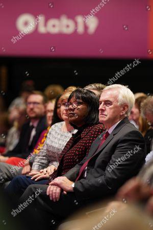 John McDonnell, Diane Abbott, Emily Thornberry and Keir Starmer watch Jeremy Corbyn's Leaders Speech
