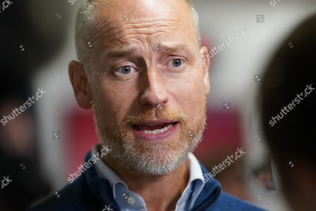 Stephen Kinnock at the Labour Party Conference, Brighton, UK.