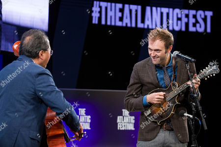 Yo-Yo Ma, Chris Thile. Yo-Yo Ma, left, and Chris Thile perform before House Speaker Nancy Pelosi of Calif., participates in question and answer session with Jeffrey Goldberg, the editor in chief of The Atlantic, as part of the Atlantic Festival, in Washington
