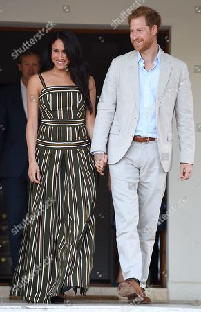Prince Harry, Duke of Sussex, and Meghan Duchess of Sussex, attend a Reception for Young People at the Residence of the British High Commissioner in Cape Town, South Africa