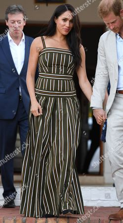 Stock Image of Prince Harry, Duke of Sussex, Meghan Duchess of Sussex, attend a Reception for Young People at the Residence of the British High Commissioner in Cape Town, South Africa