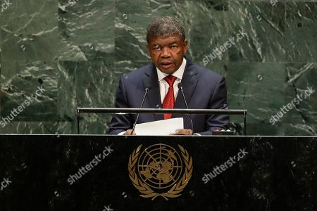 Angola's President Joao Manuel Goncalves Lourenco addresses the 74th session of the United Nations General Assembly, at the United Nations headquarters