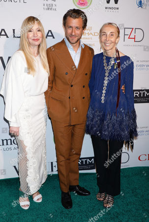 Stock Image of Evie Evangelou, Francesco Carrozzini and Carla Sozzani