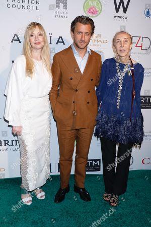 Stock Image of Evie Evangelou, Francesco Carrozzini, and Carla Sozzani