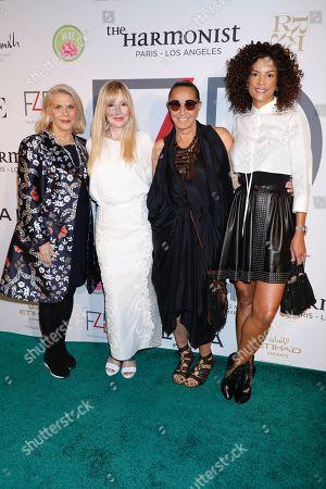 Francine Lefrak, Evie Evangelou, Donna Karan and Veronica Webb