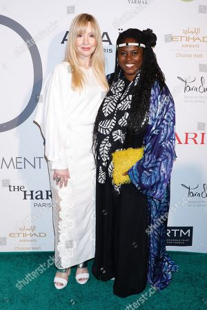 Stock Image of Evie Evangelou and Abrima Erwiah
