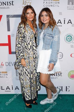 Stock Photo of Lola Karimova-Tillyaeva and daughter Mariam Tillyaeva